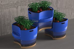 The Ocean Cleanup Project's collected plastic gets and grows a new life with this urban planter