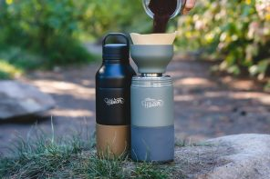 The Swiss Army Knife of outdoor bottles lets you brew coffee/tea, or even infuse your water