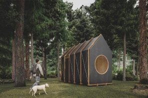 This DIY tiny wooden cabin comes with a Scandinavian aesthetic and a flatpack design!
