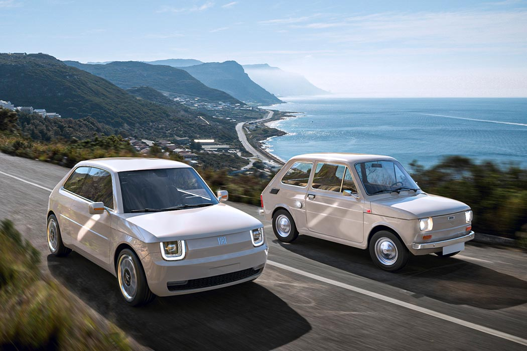 The Fiat 126 reimagined as an all-electric vehicle evokes nostalgia through its modern design!