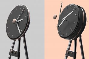 A turntable that doubles as an analog clock is a space-saving way to evoke nostalgia!