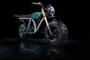 The raw, hulking design of this off-road electric bike puts the sleek modern bikes to shame!