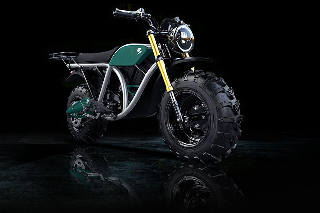 The raw, hulking design of this off-road electric bike puts the sleek modern bikes to shame!