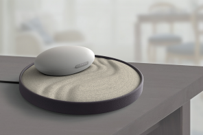 This Award-Winning Breathing Assistive Stone expands and contracts to guide your meditation