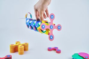 "Think outside the ""block"" with these magnetic, origami-inspired building toy"