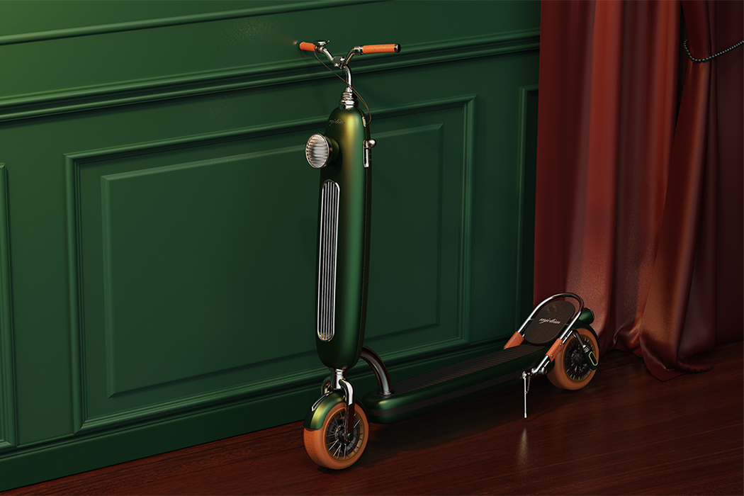 This Porsche clover green e-scooter is the retro style statement you need to end 2020 with a bang!