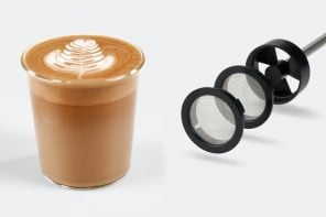 Make velvety-smooth coffee like baristas in 20 seconds with this portable milk foamer!