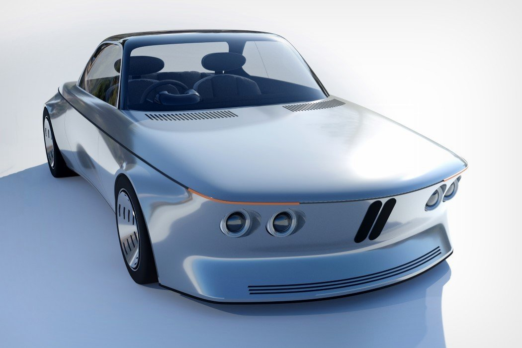This BMW E9 redesign embraces retro-futurism and and the soft visual appeal of Baymax!