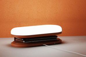This desktop night-lamp also wirelessly charges your smartphone