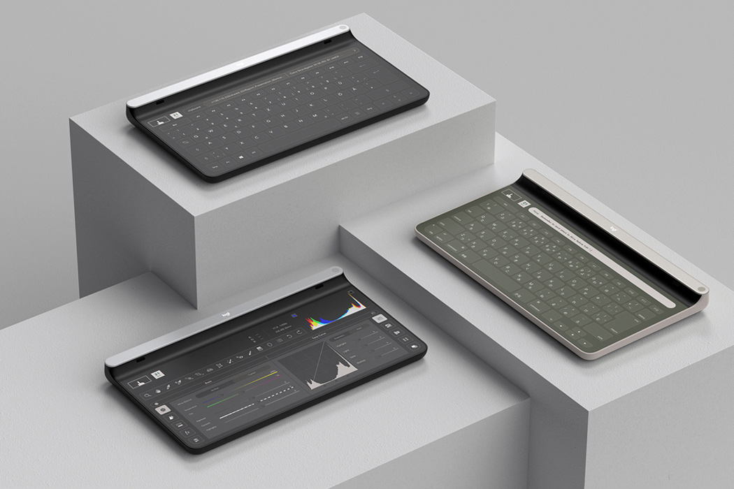 The Logitech Ultra concept transforms from a keyboard to a sketchpad for the ultimate multitasking experience!
