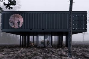 These repurposed shipping container offices are designed to be economic and eco-friendly!