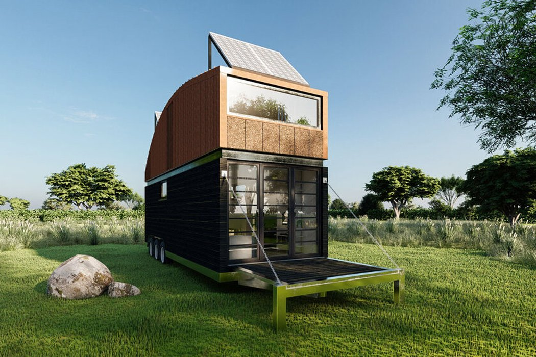 This $65,000 tiny house on wheels is made with eco-friendly materials for sustainable home owners!