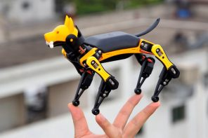 This Boston Dynamics robot dog's smaller sibling is more affordable, and can be taught new tricks!