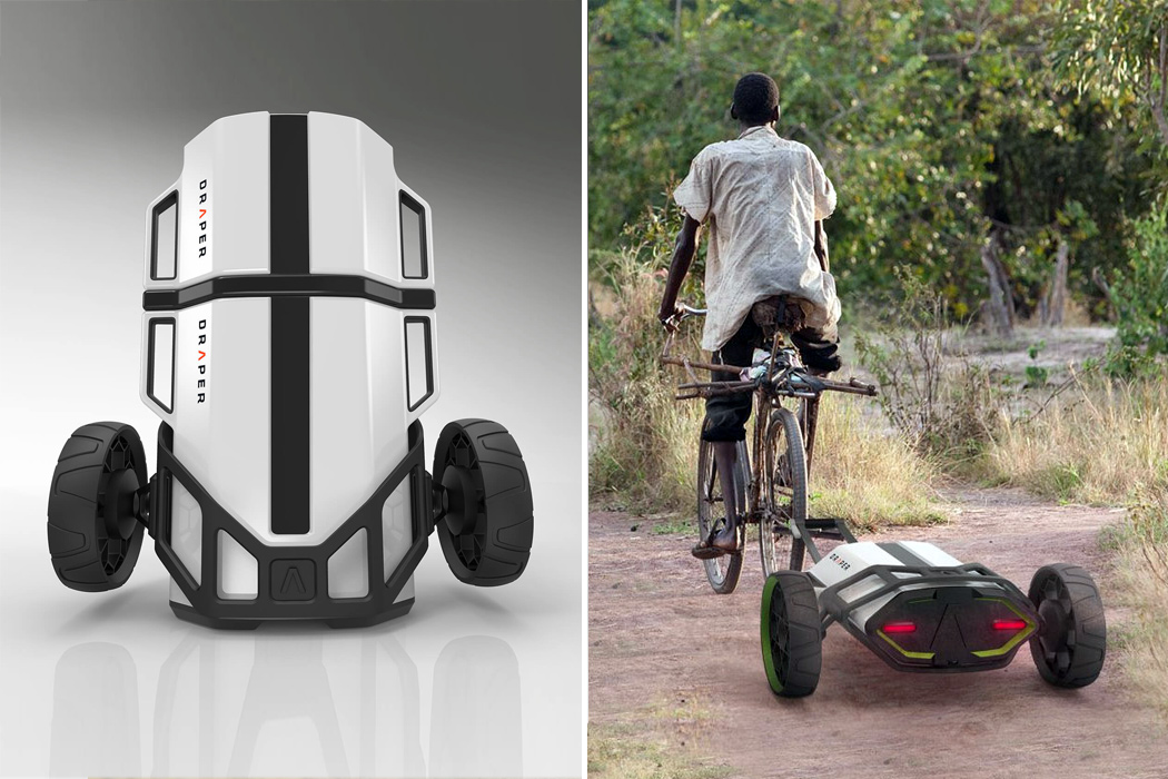This cost + energy efficient mobile refrigerator reduces food contamination and waste in developing countries!