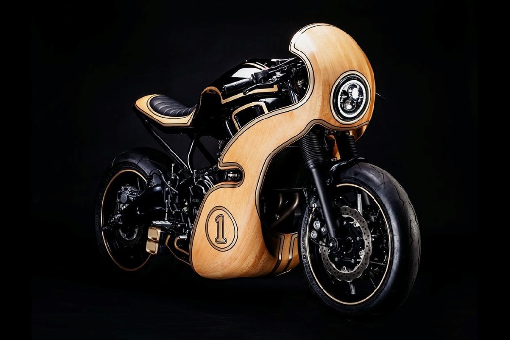 Custom Yamaha XSR700 with a wooden body is giving me major longboard vibes!