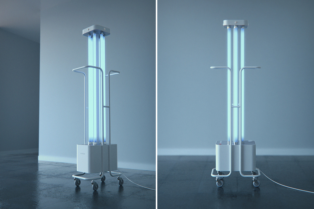 This Portable UV-C Lamp can Sterilize an Entire Room with the Push of a Button