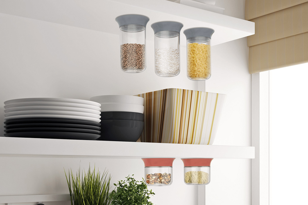 This Storage System Operates With Suction And Can Be Used On Any Surface!