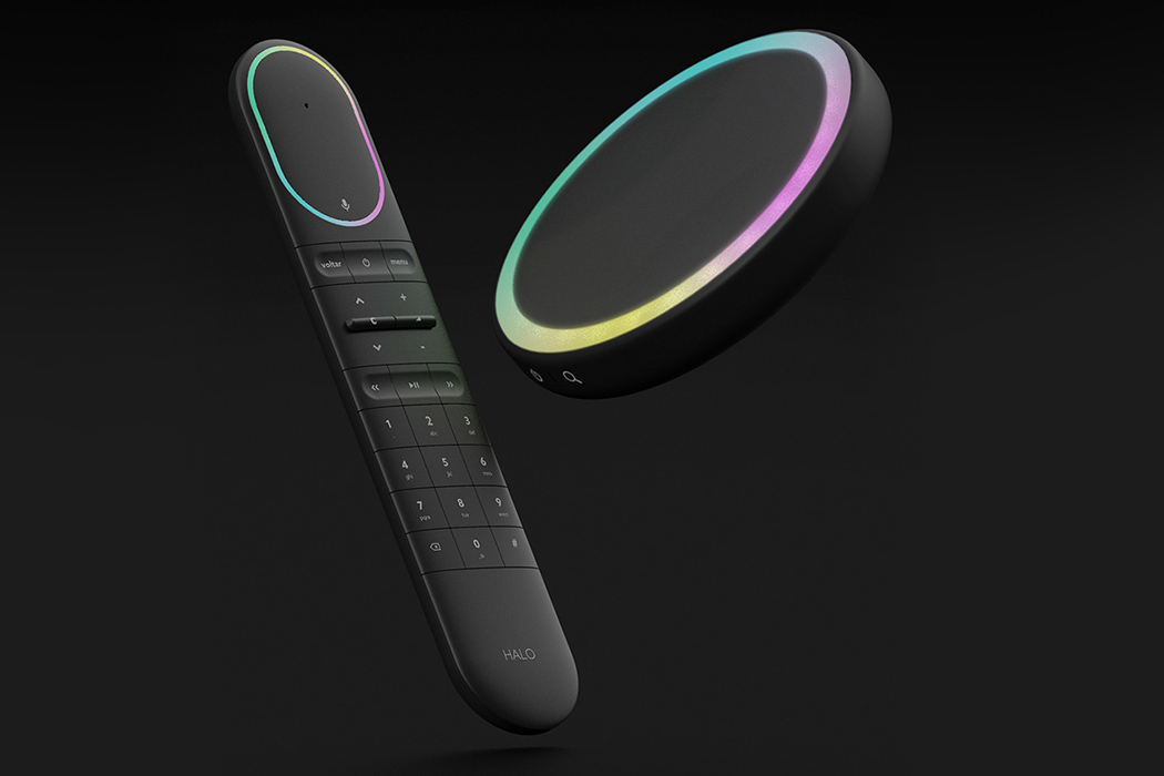 This 4 input smart remote control + set top box's interface speaks with each other!