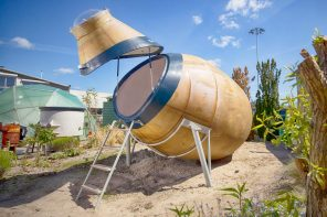Dutch architects upcycle waste into sustainable glamping pods!