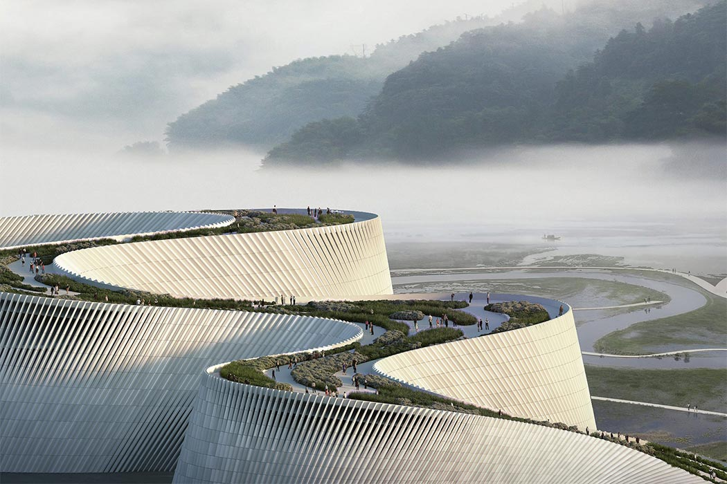 This 496 million dollar project upgrades the Shenzhen Natural History Museum to an architectural river!