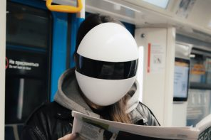 No, this isn't Daft Punk cosplay, it's a privacy-protecting N99 mask and face-shield!