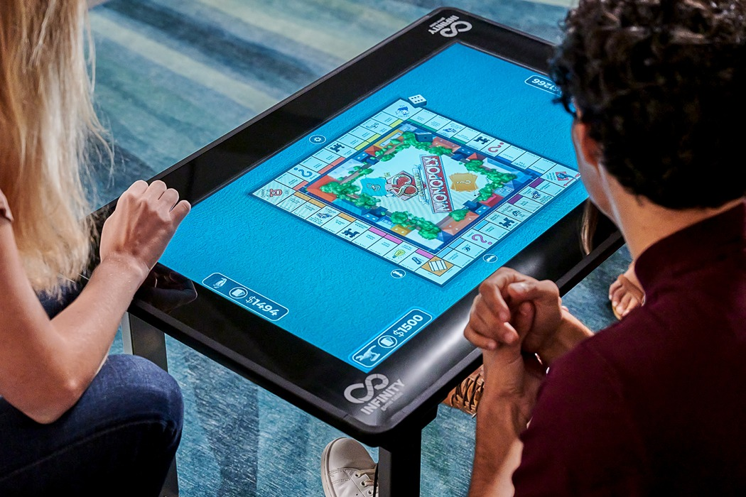 This dynamic display-table lets you play all your favorite board games on a virtual screen!