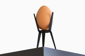 This minimalist egg holder feels like IKEA furniture for your poultry