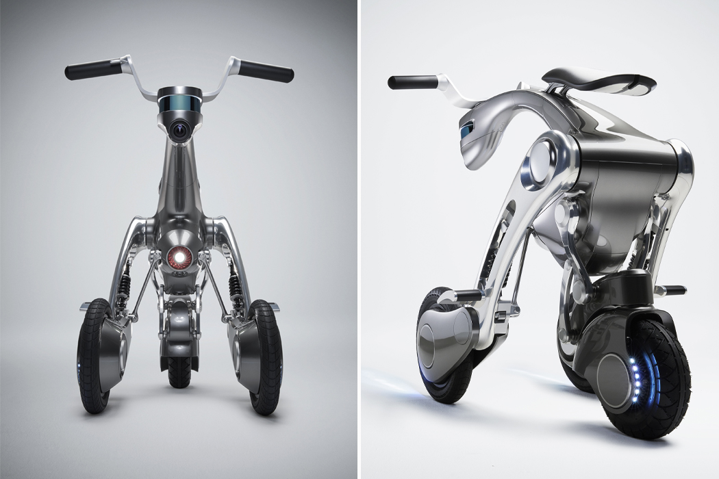 This AI personal assistant transforms into a bike that uses robotic mapping to meet you anywhere!