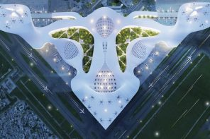 This award-winning sustainable airport is a multimodal structure capable of purifying air!