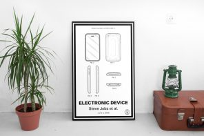 Gifts for Designers: Apple's patents, turned into graphic posters that you can hang on your wall!