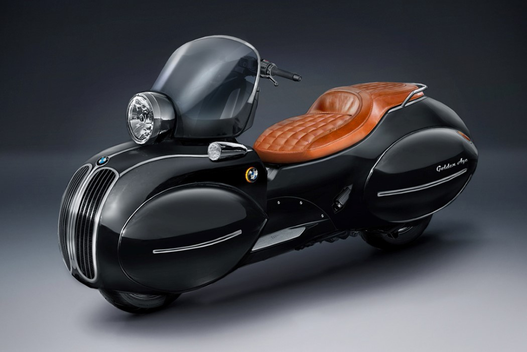 Art Deco meets Automotive with this vintage-inspired custom BMW C400X scooter