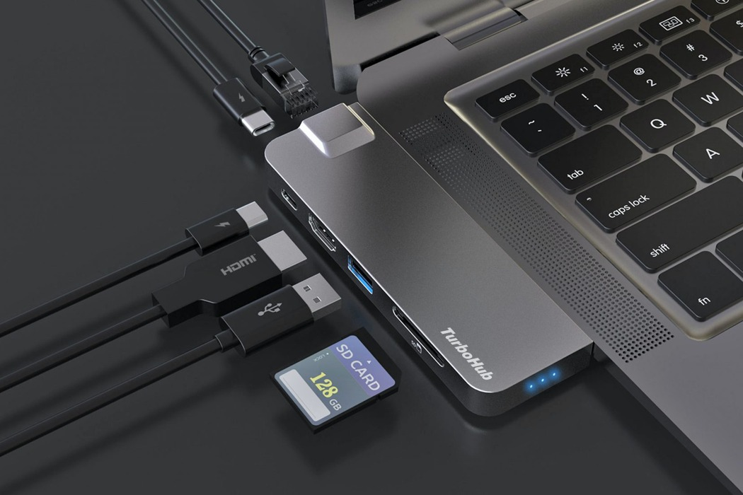 This portable SSD with 6-in-1 expandable adapter completely transforms your laptop
