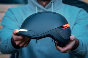 This smart helmet with dynamic LEDs and a sleek design keeps you fashionable and safe!