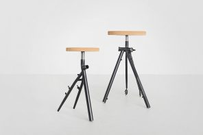 How were these sustainable stools made? By upcycling old bicycles.