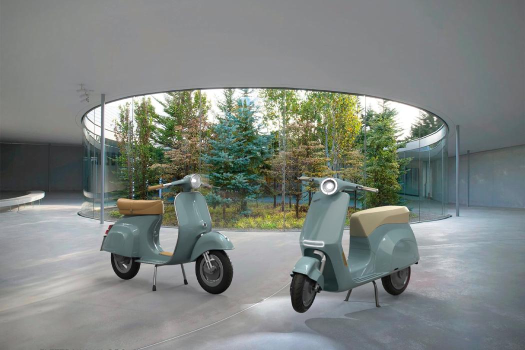Классический велосипед Vespa Piaggio 1946 года стал электрическим с современной эстетикой угловатого дизайна!