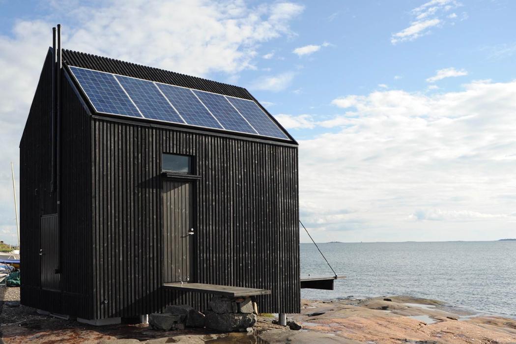 В этой полностью автономной + переносной сборной кабине используется экологически чистая система хранения энергии, которая превращается в эко-кабину!