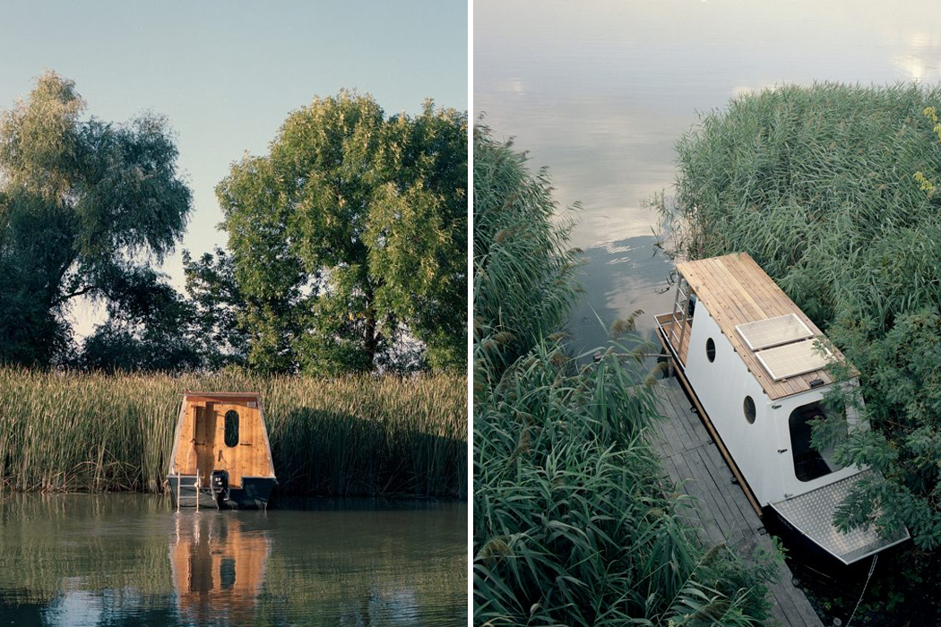 Inspired by fishing boats, this houseboat's compact lifestyle is entirely sustained through solar energy!