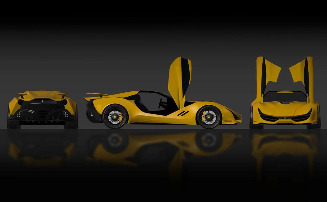 Этот концепт Ferrari имеет одни из самых впечатляющих покрытий класса А, которые я когда-либо видел.