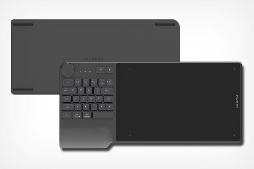 The Ultimate Productivity Keyboard For Creatives Features A Tablet Surface And 28 Shortcut Keys Yanko Design