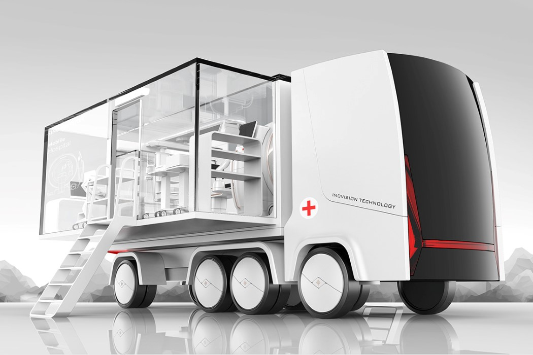 This hospital-on-wheels can travel to critical areas to immediately treat patients and victims