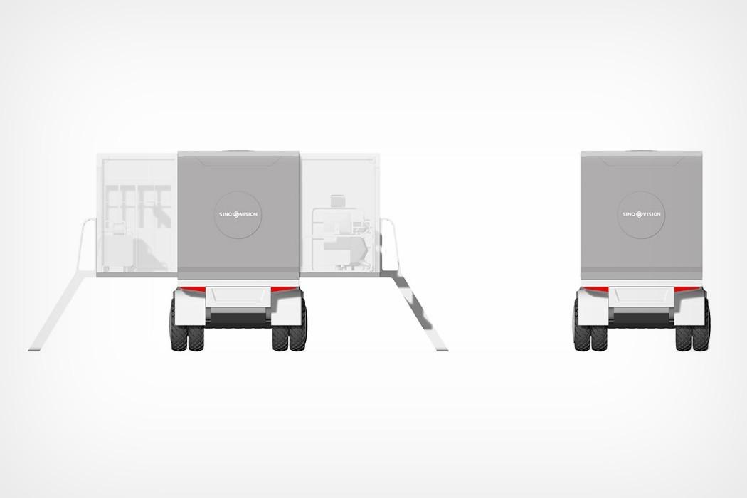 Эта больница на колесах может путешествовать в критические зоны, чтобы немедленно оказать помощь пациентам и пострадавшим.