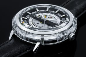 With its Sapphire-Crystal body, the WTIF watch looks like a literal gemstone on your wrist