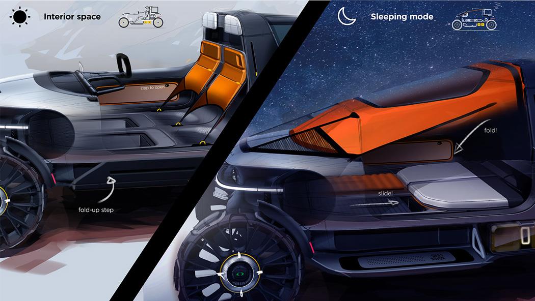 Этот всепогодный кемпер Land Rover можно выехать на улицу на ночь без электросети.
