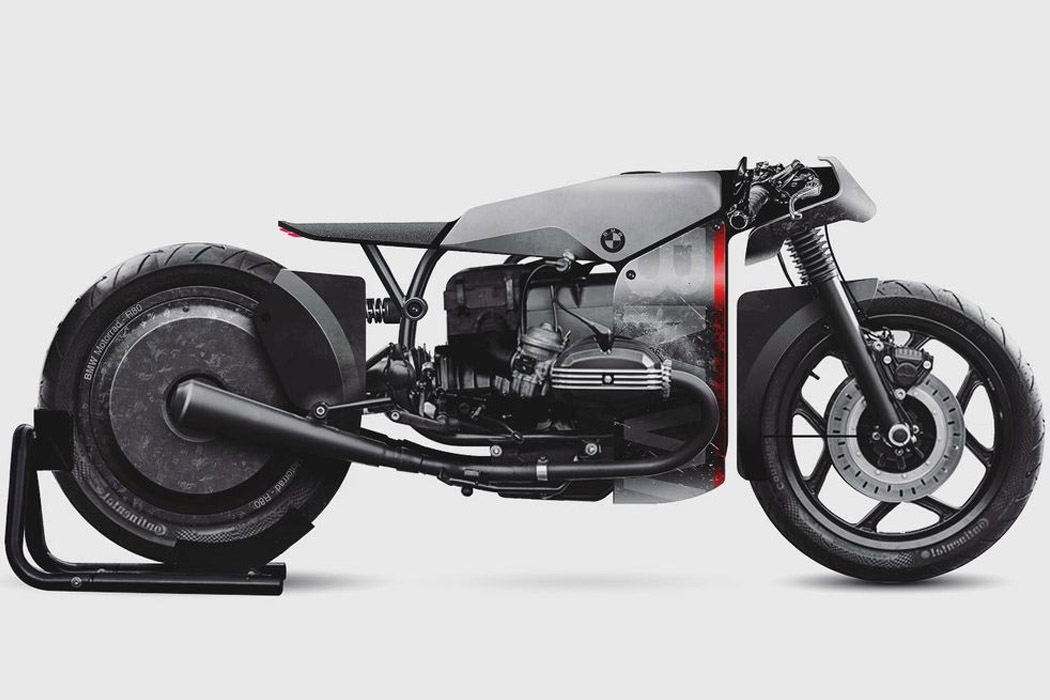 This Bmw Cafe Racer Drag Racer Bike Is An Edgy Speed Demon On The Prowl Yanko Design