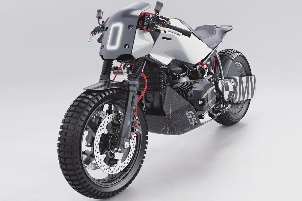 Этот мотоцикл BMW Café Racer + Drag Racer - резкий демон скорости на охоте