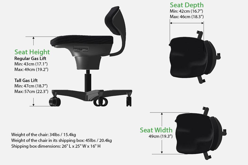 В этом эргономичном кресле используется кинезиология, чтобы заново изобрести традиционную опору для спины и улучшить осанку!