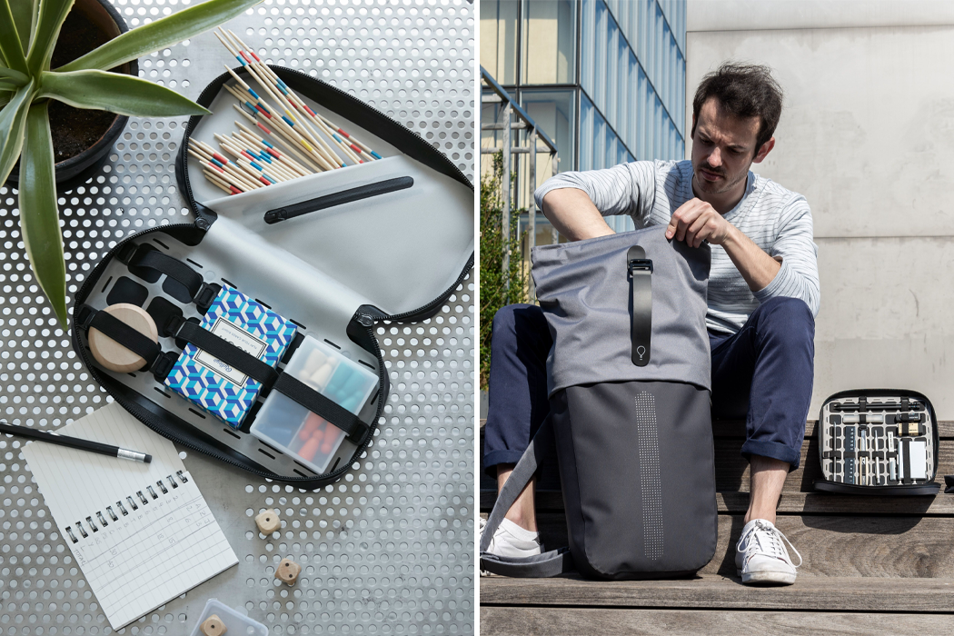 These customizable backpack grid organizers are every stationery lover's best travel partners
