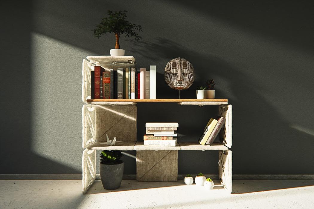 Эта модульная мебельная система с телескопическими трубами - самый быстрый способ еженедельно менять дизайн вашего интерьера!