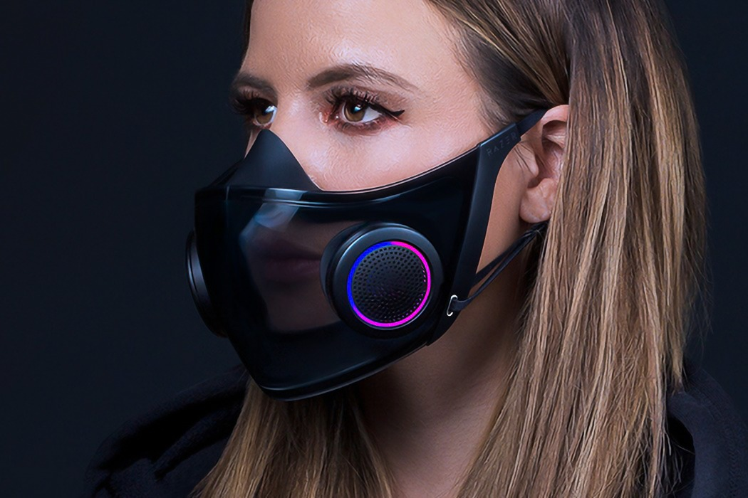 Razer Project Hazel is the world's smartest transparent face mask with RGB lighting!