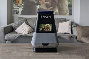 Bring the movie theater home with this portable Alexa-enabled smart projector